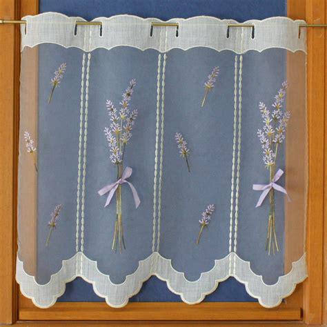 rideau macramé cuisine rideau brise bise avec dessin de lavande