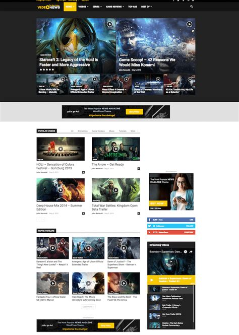 Newspaper Theme 25 Best Themes With Header Background