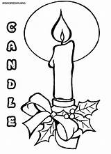 Candle Coloring Pages Colorings sketch template