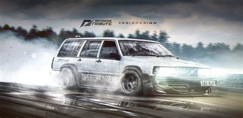 Volvo 940 Speedhunter Need For Speed Tribute Drift By