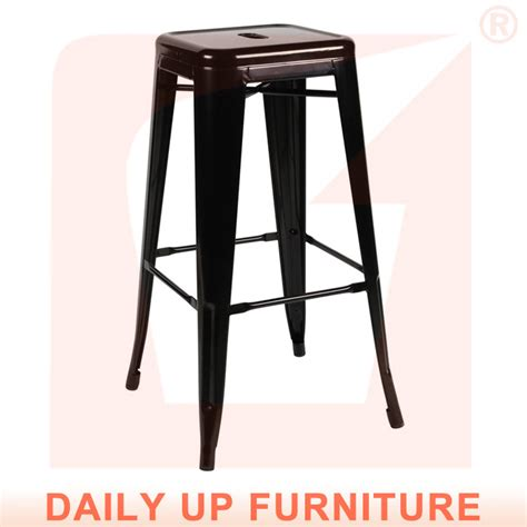 kitchen counter home chair bar stool chair stackable metal
