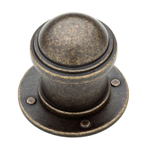antique brass cabinet knobs liberty 1 1 2 in burnished antique brass industrial