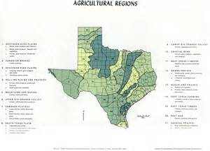 Texas Agricultural Products Map