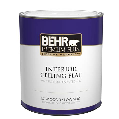 Behr Premium Plus 1 Qt Flat Interior Ceiling Paint55804