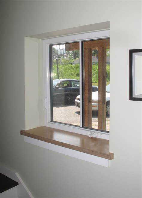 Best Wood For Interior Window Sills by Drywall Return At Jambs And Header With Wood Sill By