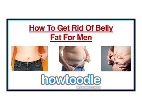 rid  belly fat  men