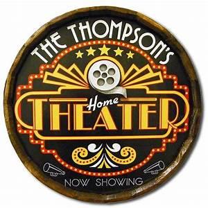 Northwest Gifts - Home Theater Vintage Quarter Barrel Sign