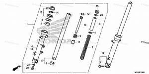 Honda Motorcycle 2012 Oem Parts Diagram For Front Fork