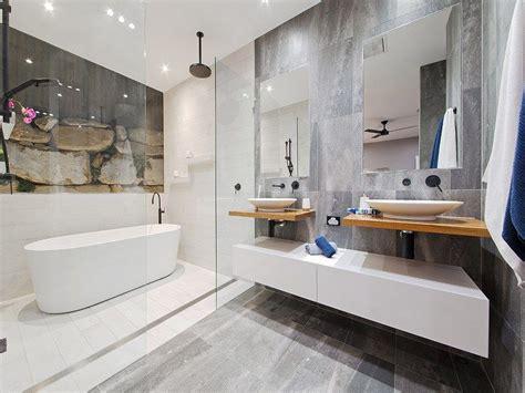 beautiful bathroom design  white timber  matte