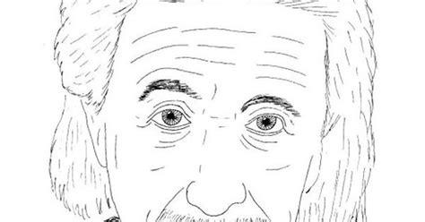 Albert Einstein Staring Coloring For Kids