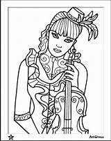 Coloring Pages Violin Wife Blank Template Adult Bored Couture Hello Uploaded User sketch template