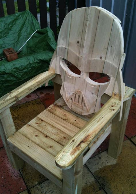 how about a faceful of darth vader patio chair