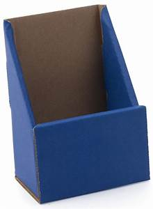 blue cheap desktop pamphlet holders 4quot x 9quot countertop With cardboard brochure holder template