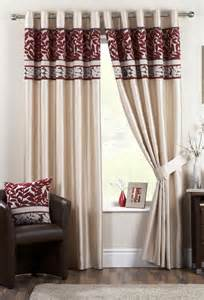 Living Room Curtain Ideas Grey Sofa by Oberon Red Lined Eyelet Curtains Woodyatt Curtains Stock
