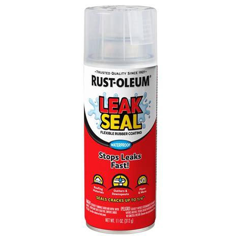 rust oleum stops rust  oz leakseal clear flexible