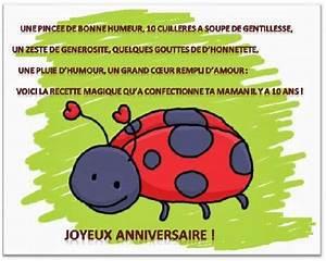 Texte Anniversaire 1 An Garçon : modele de lettre anniversaire 10 ans ~ Melissatoandfro.com Idées de Décoration