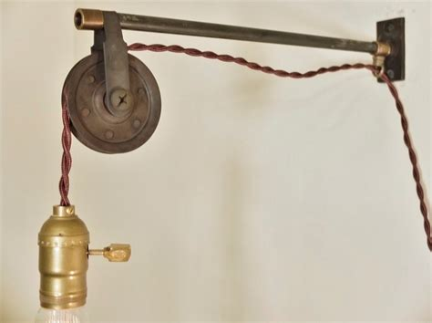 vintage industrial pulley sconce wall mount pendant