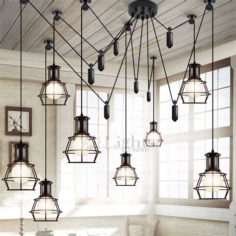 10light Country Style Industrial Kitchen Lighting Pendants