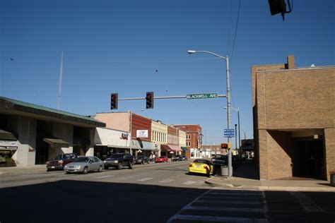Blackwell, OK : Intersection of Main St. and Blackwell ...
