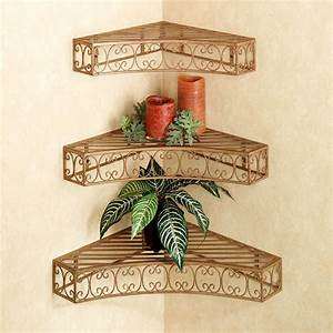 bellamy scroll corner wall shelf set With kitchen cabinets lowes with iron scroll wall art