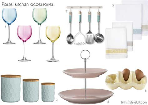 Pastel Kitchen Accessories  Britishstyleuk