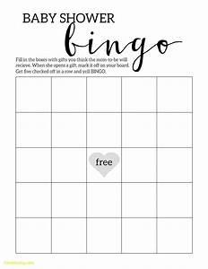 luxury baby shower bingo template best templates With free printable baby shower bingo template
