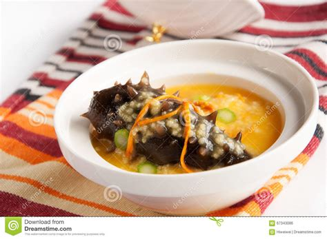 cuisine milet millet with sea cucumber stock photo image 67343086