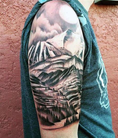 mountain tattoo designs  men climb  highest