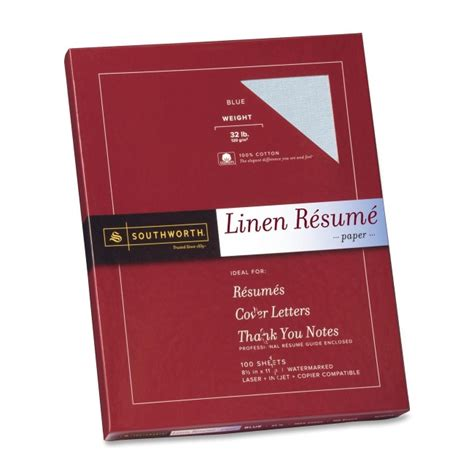Weight And Color Of Resume Paper by Southworth Premium Weight Resume Paper Quickship