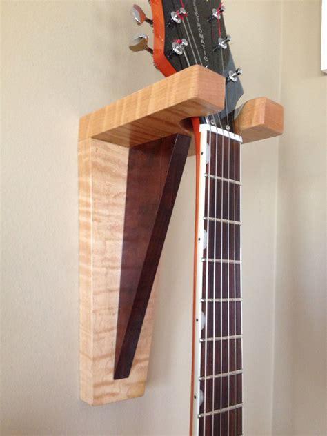 guitar hanger  curly maple  walnut ideas  la
