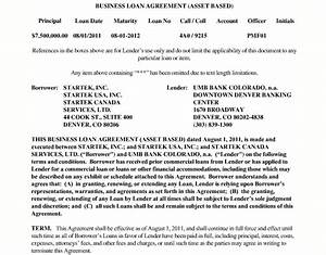 business loan agreement template 28 images loan With business loan documents