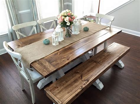 farmhouse kitchen table seats 6 farmhouse table bench shanty 2 chic