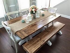 Farmhouse, Table, U0026, Bench