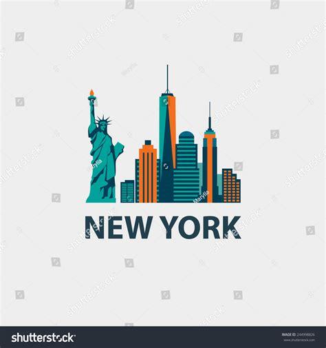 web design new york new york city architecture retro vector stock vector
