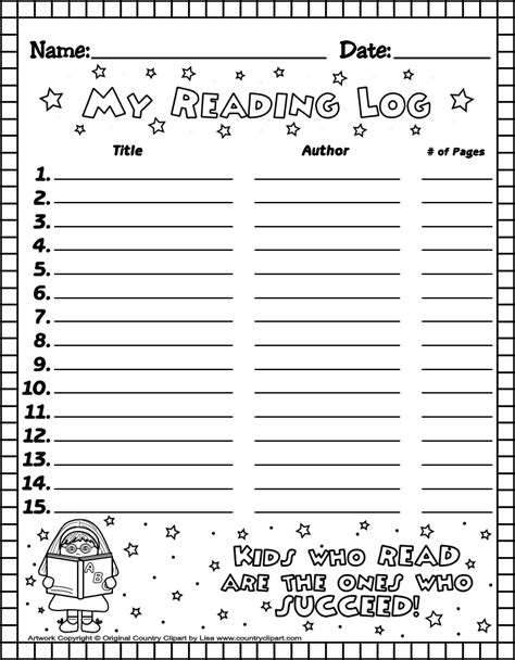 printable reading logs  teachers  parents