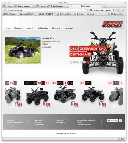 Homepage Zubehör by Neue Dinli Homepage Ab Sofort Atv Magazin