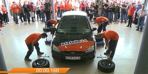 Fastest Car Wheel Change Record Title Smashed