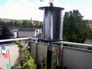 3 blatt savonius auf balkon mit 2 nabendynamos youtube With markise balkon mit tapete blatt