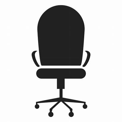 Chair Office Icon Round Transparent Vector Svg
