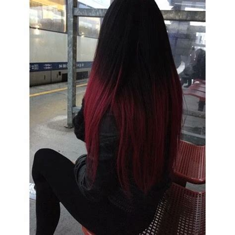 Beautiful Black Burgundy Ombre Remy Full Lace Wig 24 26