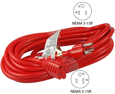 Conntek Series Nema Gauge Red Extension Cords