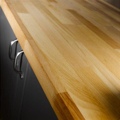 plan de travail de cuisine en quartz plan de travail bois hêtre préhuilé satiné l 300 x p 65 cm l 65 cm ep 38 mm leroy merlin