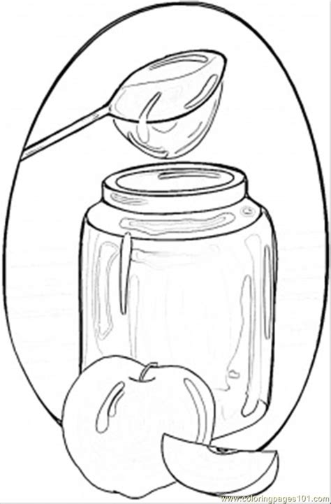 honey  apples coloring page  ukraine coloring