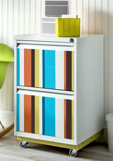 Color Splash DIY File Cabinet Makeover   DIYIdeaCenter.com