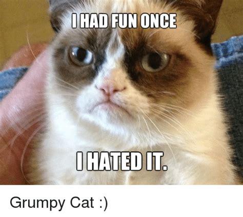 Grumpy Cat Meme I Had Fun Once - 25 best memes about i had fun once i had fun once memes