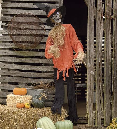Motion Activated Outdoor Decorations by Motion Activated Scarecrow With Sound 98 95