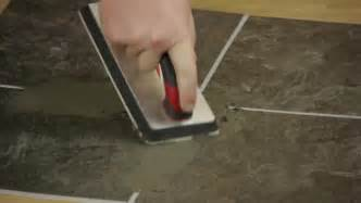 video how to use groutable peel stick floor tile ehow