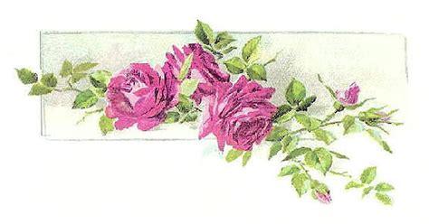 Antique Images Vintage Flower Clip Art Pink Rose