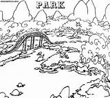 Coloring Park Pages Water Drawing Compilation Printable Getdrawings Nature Drawings Getcolorings 897px 87kb 1000 sketch template
