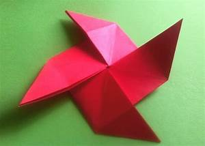 Hase Basteln Einfach : origami windrad aus der multi grundform das windrad falten ~ Orissabook.com Haus und Dekorationen